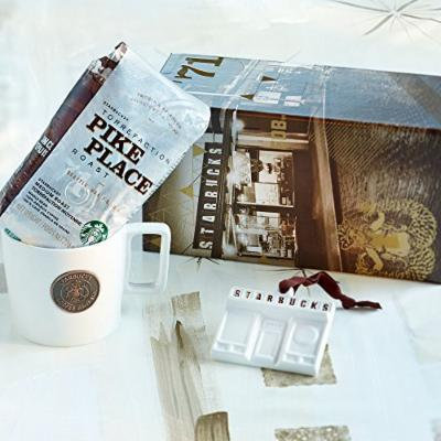 Starbucks Heritage Pike Place Coffee & Mug Gift Set with Limited Edition Ornament