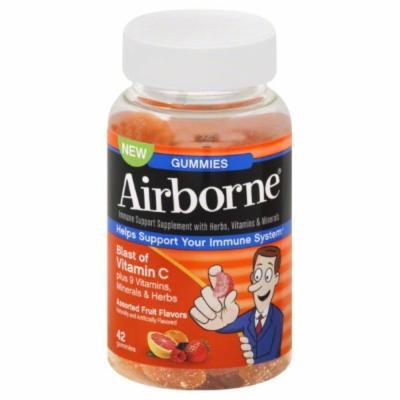 Airborne Gummies Assorted Fruit 42 CT (PACK OF 2)