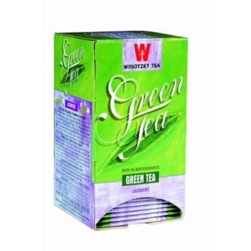 Wissotzky Green Tea with Jasmine, 1.06-Ounce Boxes (Pack of 6)