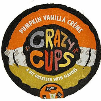 Crazy Cups Coffee, Pumpkin Vanilla Creme, 22 Count (Pack of 4)
