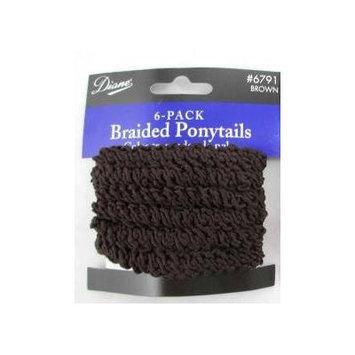 Diane Braided Ponytail Hair Ties 6-pack Brown #6791