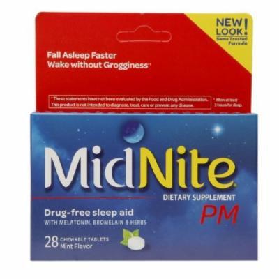 Midnite PM Drug-Free Sleep Aid, Chewable Tablets, Mint 28 ea Pack of 3
