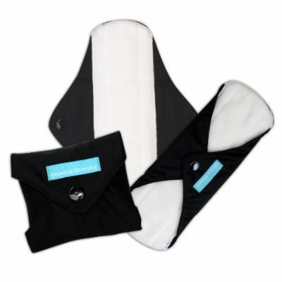 Charlie Banana Reusable Feminine Pads - 3 Pack - Liners (Black)