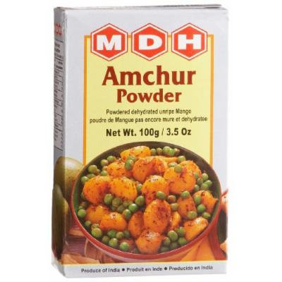 MDH Amchur Powder (Dehydrated Unripe Mango), 3.5-Ounce Boxes (Pack of 10)