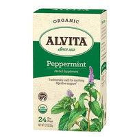 Alvita Tea Organic Herbal Peppermint Tea - 24 Bags - Pack Of 1