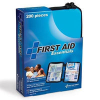 First Aid Essentials Ultra-Light & Small 200-Piece First Aid Kit w/ Unique Items, Durable Plastic Case