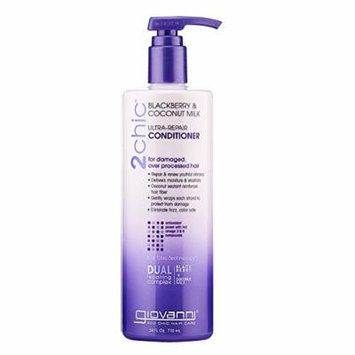 Giovanni 2chic Ultra Repair Conditioner, Blackberry and Coconut Milk, 24 Fluid Ounce