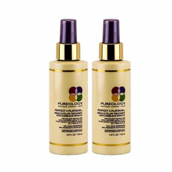 PUREOLOGY Perfect 4 Platinum Miracle Filler Treatment 4.9 fl. oz. (2 Pack)