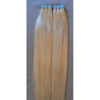 18 inches 100grs,40pcs, 100% Human Tape In Hair Extensions #24 Light Golden Blonde