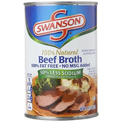 Campbell's Swanson 50% Less Sodium Broth, Beef