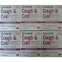 Cough & Cold HBP Antihistamine Cough & Cold Suppressant Tablets for People with High Blood Pressure, 16-Count Boxes (Pack of 6) *Compare to the same active ingredients found in Coricidin® HBP & Save*