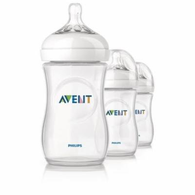 Philips Avent Natural Baby Feeding Bottles 260ml 9oz Triple 3 Pack Scf693/37 Good Gift for Mom and Baby Fast Shipping Ship Worldwide