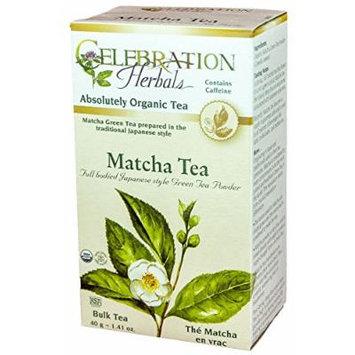 Celebration Herbals Loosepack Herbal Green 7 Black Tea Matcha Organic -- 40 g