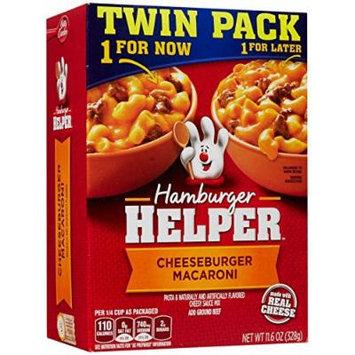 Hamburger Helper Pasta Dinner Kit, Twin Pack - Cheeseburger Macaroni - 11.6 oz