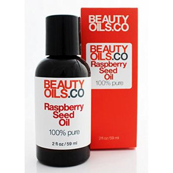 BEAUTYOILS.CO Raspberry Seed Oil - 100% Pure Cold-Pressed Beauty Face Oil Moisturizer (2 fl oz)