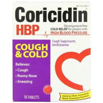 Coricidin Hbp Antihistamine Cough & Cold Suppressant Tablets, 16 Count
