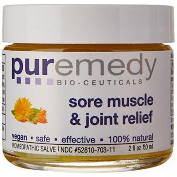 Puremedy Sore Muscle and Joint Relief Homeopathic Salve, Natural, 2 Ounce