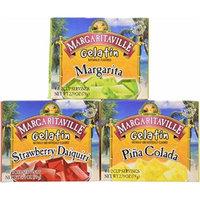Margaritaville Gelatin Jello Margarita Pina Colada Strawberry Daiquiri 2.79oz (Pack of 3)