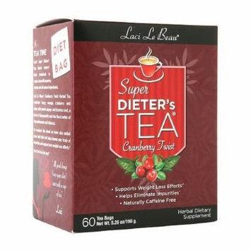 Laci Le Beau Super Dieter's Tea Bags, Cranberry Twist 60 ea