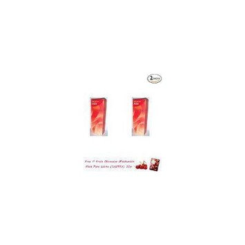 2 Packs of Berina Permanent Hair Dye Color Cream # A23 Bright Red.