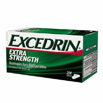 Excedrin Extra Strength Pain Reliever Aid Caplets 200 ea Pack of 2