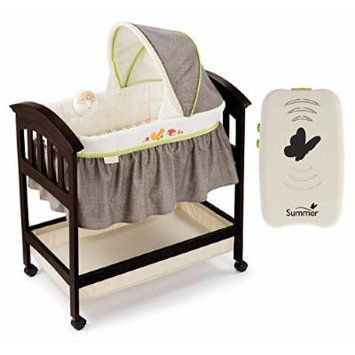 Summer Infant Fox & Friends Classic Comfort Wood Bassinet with Portable Soother