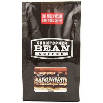 Christopher Bean Coffee Flavored Ground Coffee, Tiramisu, 12 Ounce