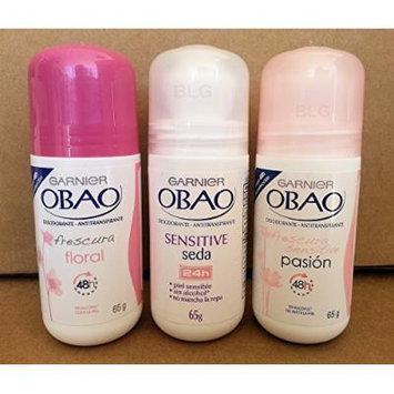 Garnier OBAO Deodorant Antiperspirant Combo, Floral Freshness, Sensitive Silk, Pasion (3 Pack).. HPVagr