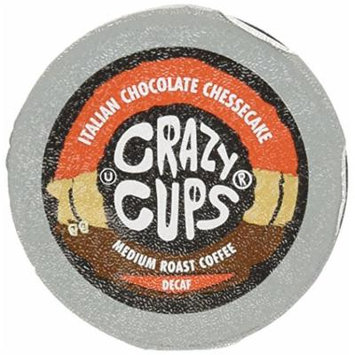 Crazy Cups Decaf Italian Chocolate Cheesecake Flavored Coffee Single Serve Cups for Keurig K Cups Brewer, 22 Count