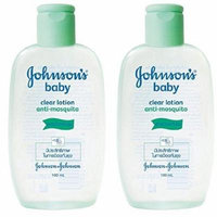 Johnson's Baby Clear Lotion, Anti-mosquito 100ml x 2 Pcs. Free Tracking Number