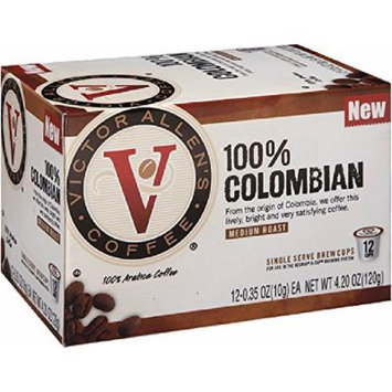 Victor Allen's Coffee 12-Count Single Serve Cup for Keurig K-Cup Brewers New 100% Colombian, Medium Roast, 12 Count (Pack of 6)