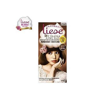 Kao Japan liese Prettia Bubble Hair Color Dying Kit - Chestnut Brown