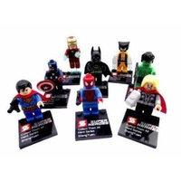 New Set of 8 Superheroes Minifigures