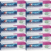 Crest Sensi-Relief Toothpaste, Whitening Plus Scope, Minty Fresh, Travel Size, TSA Approved, 0.85 Ounces (Pack of 12)