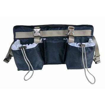 Buggybutler Sport Premium Smart Stroller Organizer & Cooler with 2 XL Insulated Cup Holders & Phone Pocket. Convertible - carry along as diaper bag with shoulder strap (Midnight Blue) Also available in black, pink, orange, & aqua