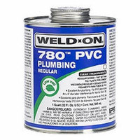 Weld-On 14001 Quart 780 Regular Body PVC Cement, Clear, 1-Pack