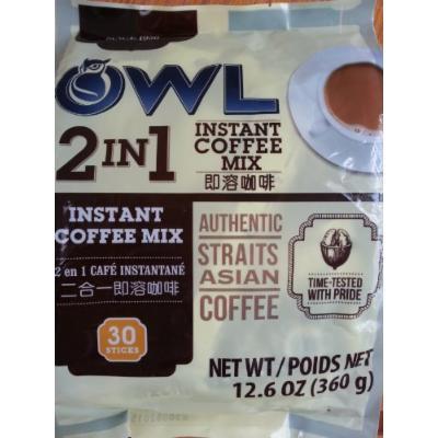 OWL 2 in 1 Instant Coffee Mix 30 Sticks ( 12.6oz , 360 G)