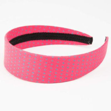 Peppercorn Kids Polka-dot Headband (Peony Pink)