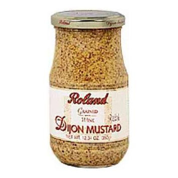 Roland Dijon Mustard Grained with Wine 12.3 oz Product of France