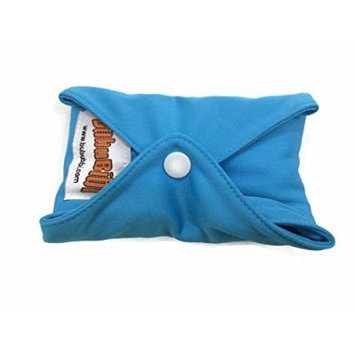 4 BubuBibi Maxi Night Bamboo Mama Cloths Menstrual Reusable Sanitary Liner Pads (Blue)