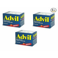 Advil® 24's Coated Tablets Ibuprofen 200 mg Pain Reliever Fever Reducer (Pack of 3)