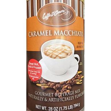 One - 28oz Caffe D'Amore Caramel Macchiato Gourmet Instant Beverage Mix