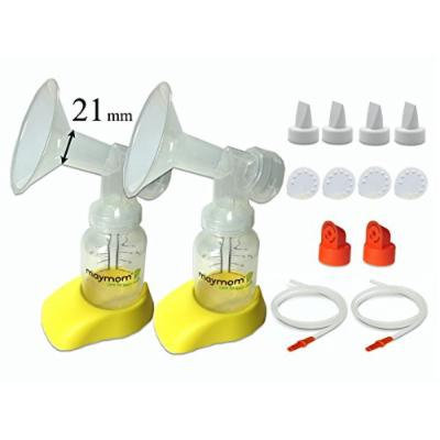 Personal Accessory Set for Hygeia EnJoye Breastpump - Includes Flanges (Small, 21mm), Tubing, Valves, Bottles, Bottle Stands for Hygeia Breast Pump; Made by Maymom