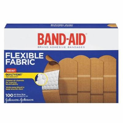 Band-Aid Flexible Fabric Bandages, All One Size 100 ea Pack of 3