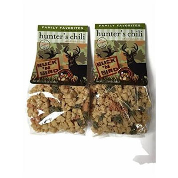 Hunter's Chili Mix with Deer, Turkey, Bird Shaped Pasta - 11.25 Oz. Bags (Pack of 2)