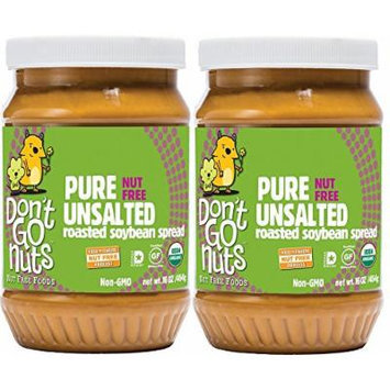 Don't Go Nuts Nut-Free Organic Roasted Soybean Spread, Pure Unsalted, 2 Count