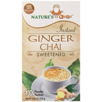 Nature's Guru Chai Sweetened Drink Mix, Ginger, 10 Count (Pack of 8)