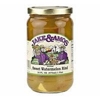 Jake & Amos Pickled Sweet Watermelon Rind, 16 Oz. Jar (Pack of 4)