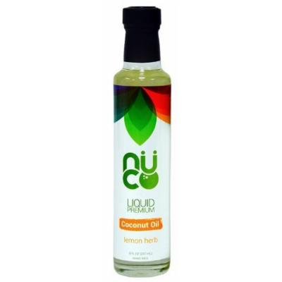Lemon Herb Liquid Premium Coconut Oil 8 Fl. Oz. (Pack Of 6)