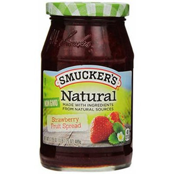 Smucker's Natural Strawberry Fruit Spread, 17.25 oz